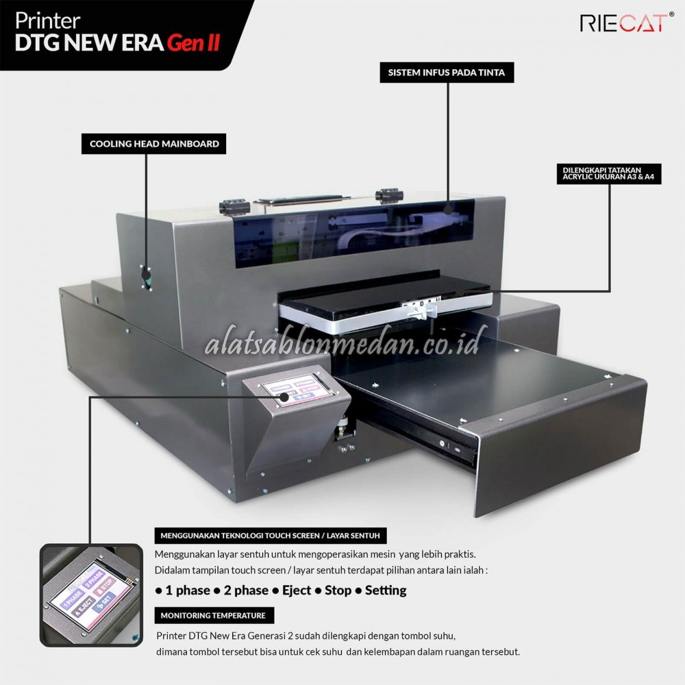 Mesin DTG Riecat | Printer DTG New Era Gen II
