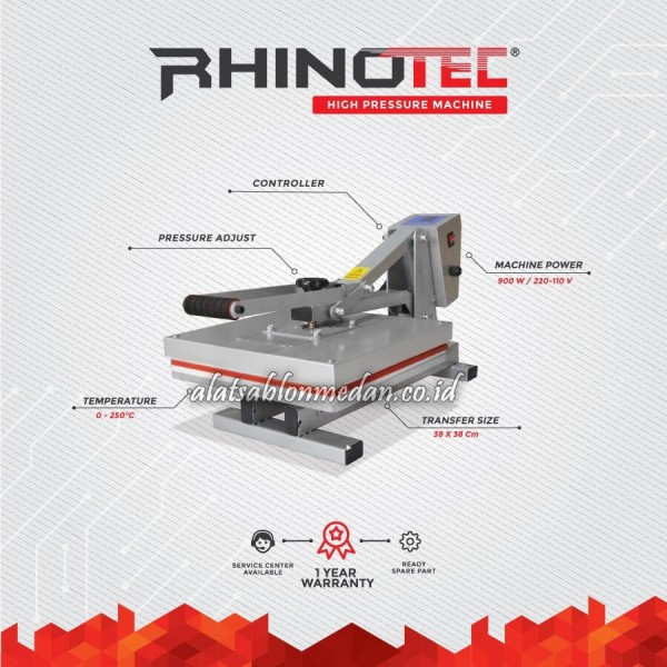 Rhinotec RTP-02 | Mesin Press Kaos High Pressure