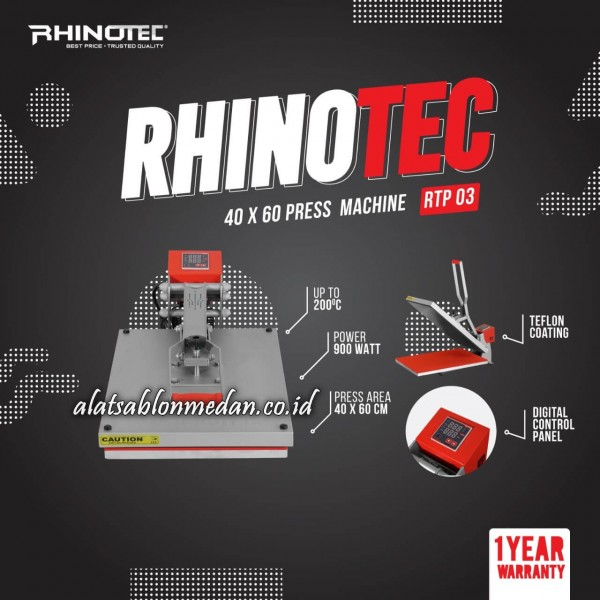 Rhinotec RTP-03 | Mesin Press Kaos
