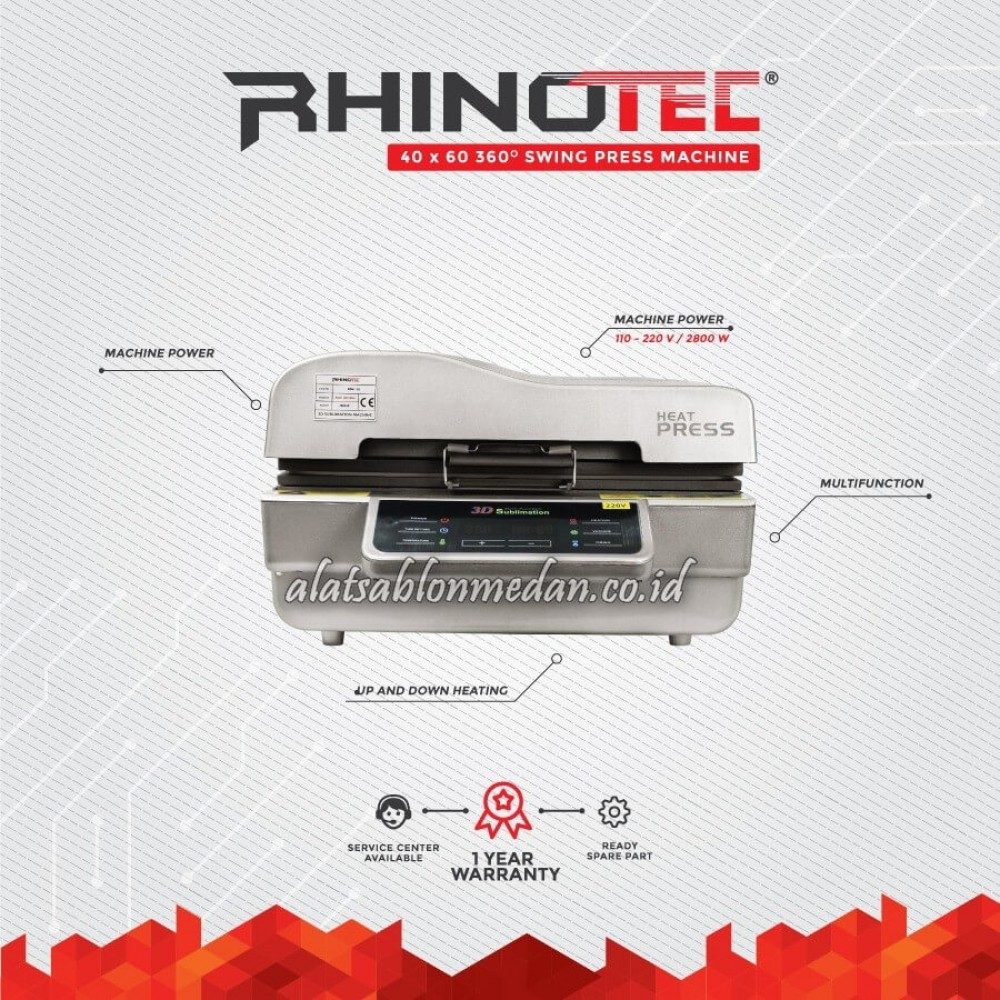Rhinotec RSM-05 | Mesin Press Sublimasi 3D