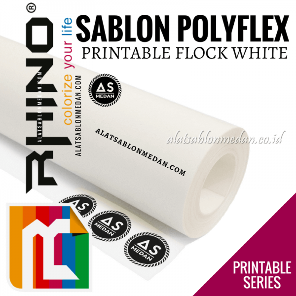 Polyflex Printable Flock White