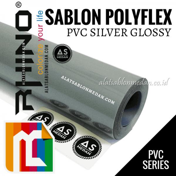 Polyflex PVC Silver Glossy