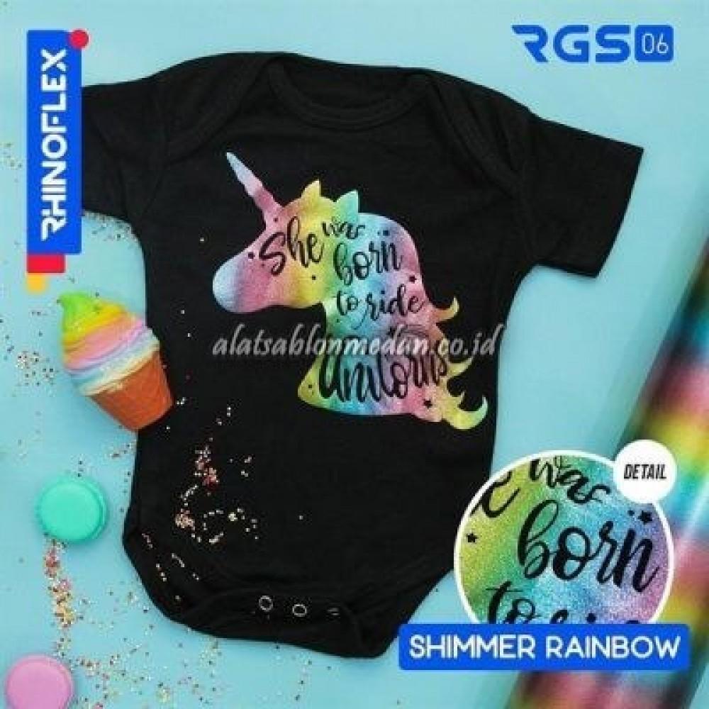 Polyflex Shimmer Rainbow