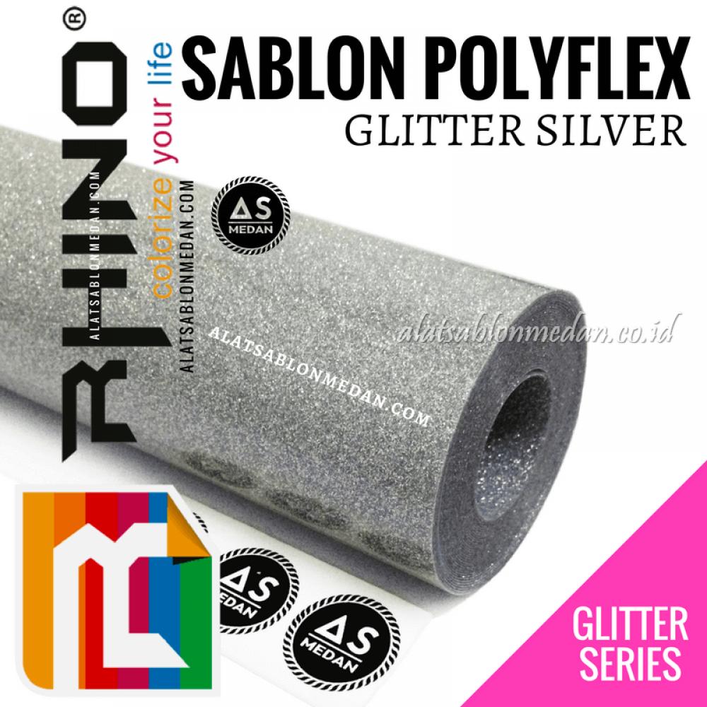 Polyflex Glitter Silver