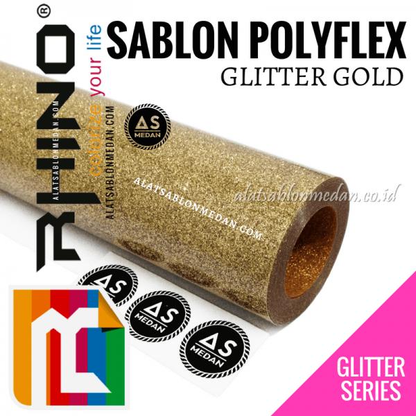 Polyflex Glitter Gold