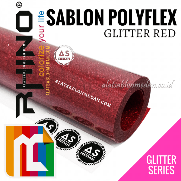 Polyflex Glitter Red