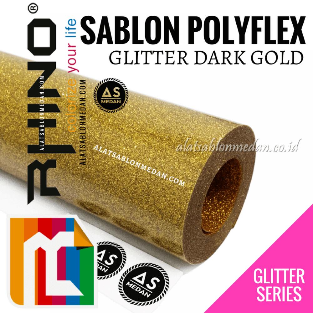Polyflex Glitter Dark Gold