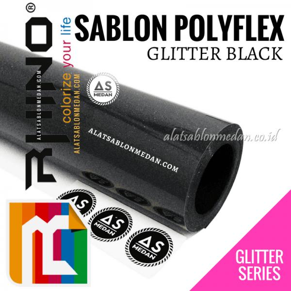 Polyflex Glitter Black