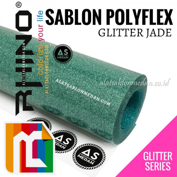 Polyflex Glitter Jade