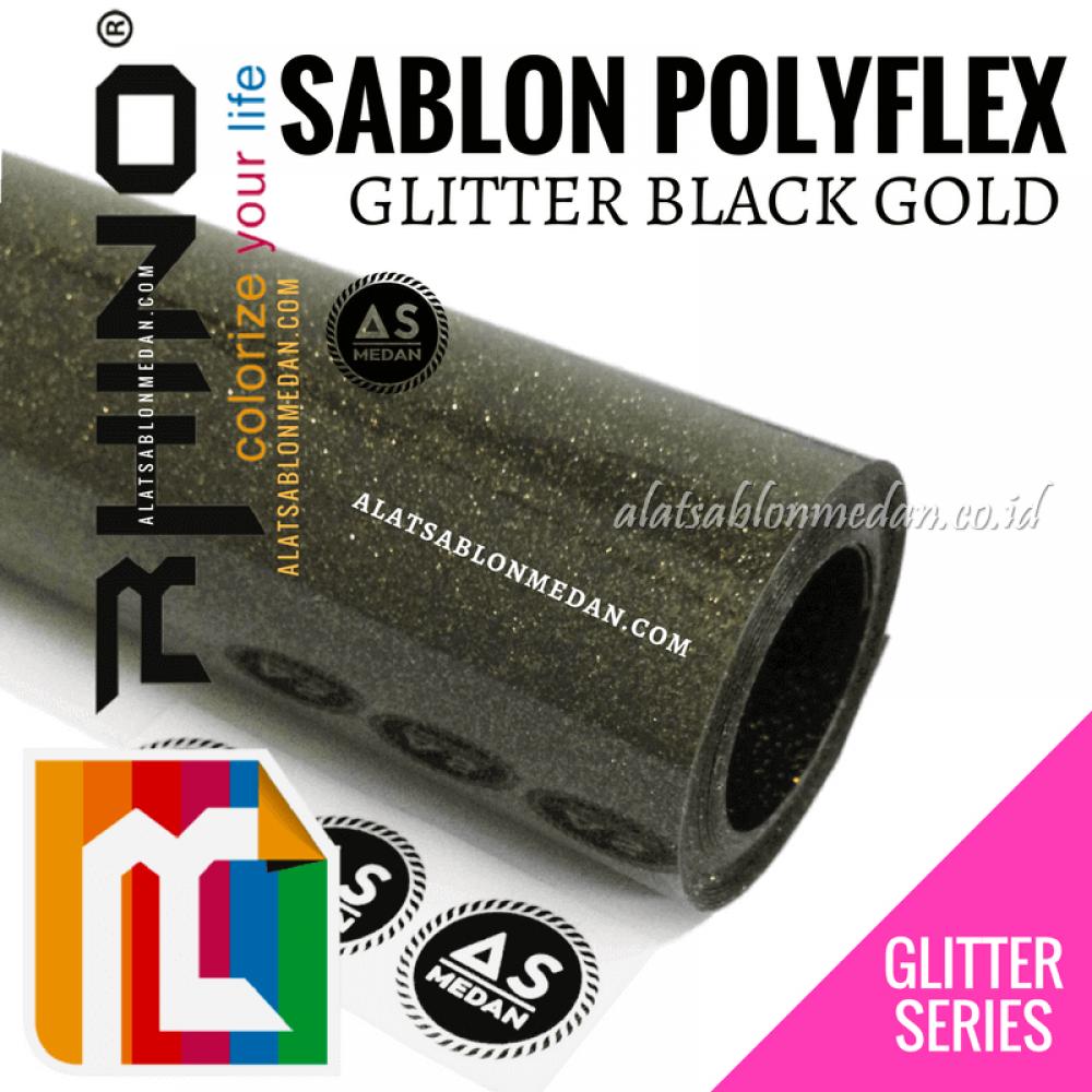 Polyflex Glitter Black Gold