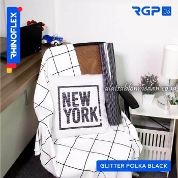 Polyflex Glitter Polka Black