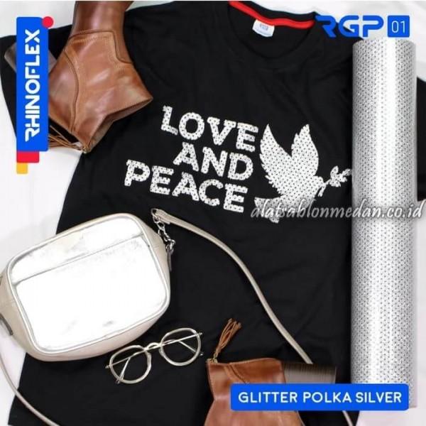 Polyflex Glitter Polka Silver