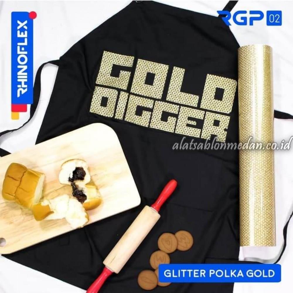 Polyflex Glitter Polka Gold