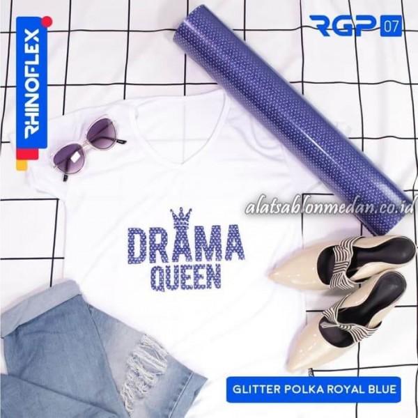Polyflex Glitter Polka Royal Blue